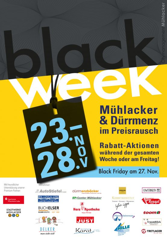 Black Week Plakat